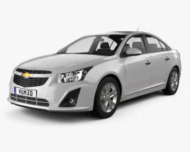 3D model of Chevrolet Cruze sedan 2013