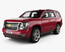 3D model of Chevrolet Tahoe 2014