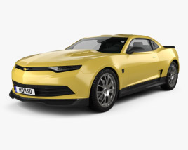 3D model of Chevrolet Camaro Bumblebee 2014