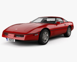 3D model of Chevrolet Corvette (C4) coupe 1983