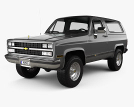 3D model of Chevrolet Blazer (K5) 1989