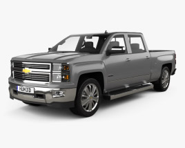3D model of Chevrolet Silverado Crew Cab High Country 2014