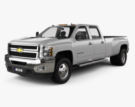 3D model of Chevrolet Silverado Crew Cab Dually 2010
