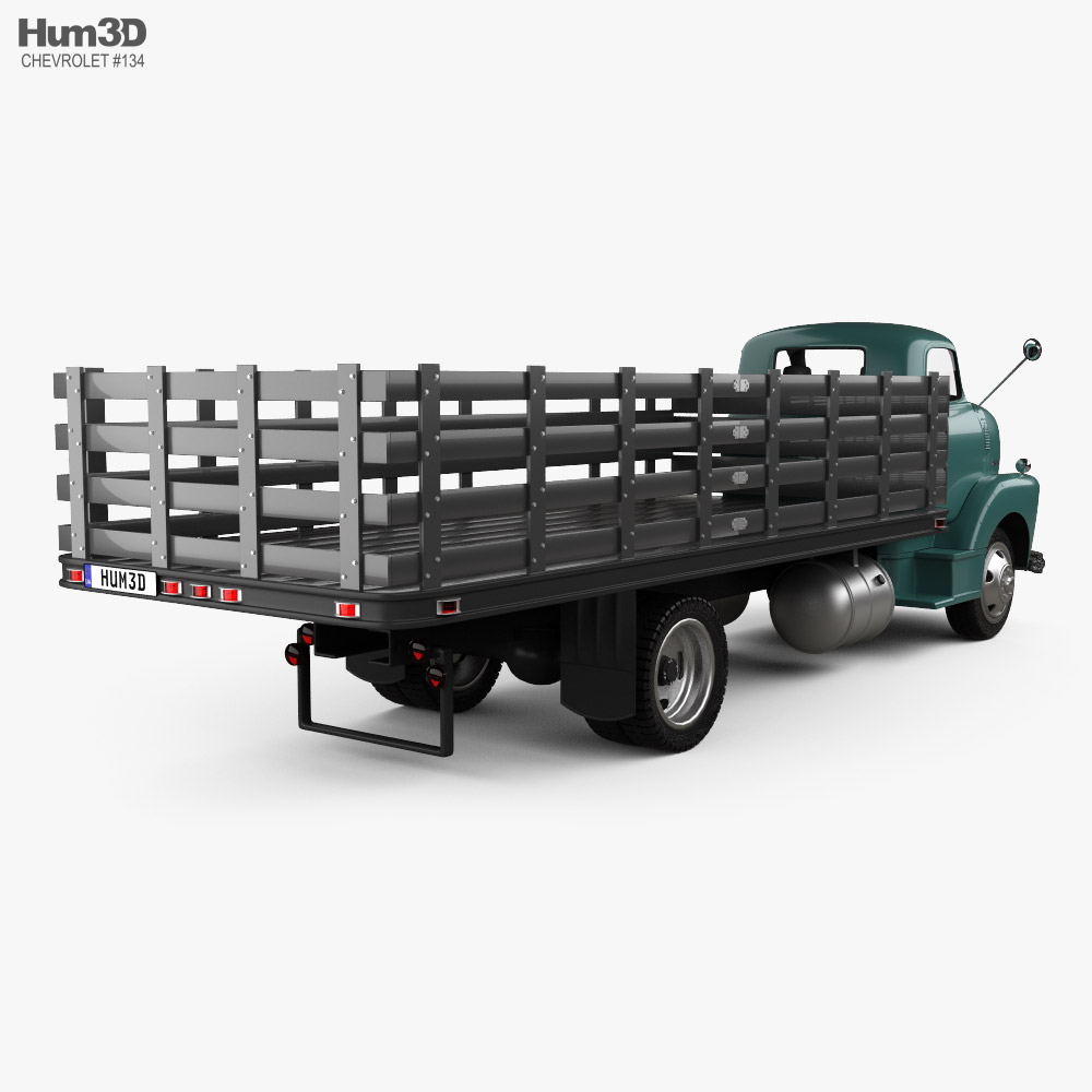 Chevrolet COE Flatbed Truck 1948 3d model back view