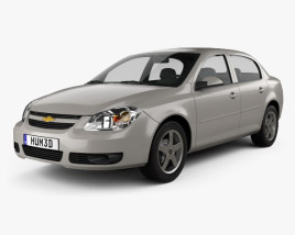 3D model of Chevrolet Cobalt sedan 2004