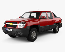 3D model of Chevrolet Avalanche 2002