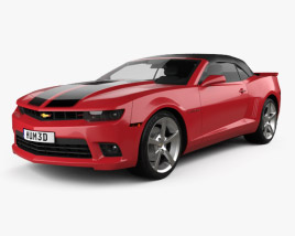 3D model of Chevrolet Camaro SS convertible 2014