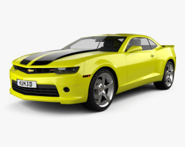 3D model of Chevrolet Camaro RS coupe 2014