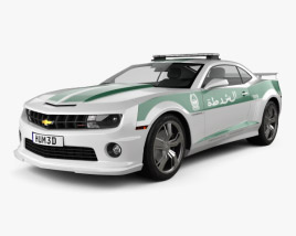 3D model of Chevrolet Camaro Police Dubai 2013