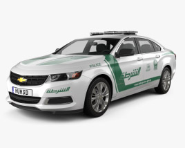 3D model of Chevrolet Impala Police Dubai 2014