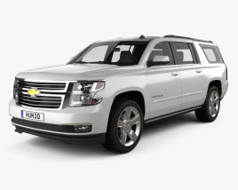 3D model of Chevrolet Suburban LTZ 2014