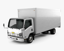 3D model of Chevrolet NQR 75L Box Truck 2011