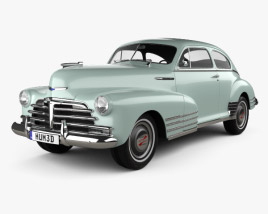 3D model of Chevrolet Fleetline 2-door Aero Sedan 1948