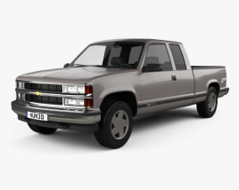 3D model of Chevrolet C1500 (K1500) Extended Cab 1988