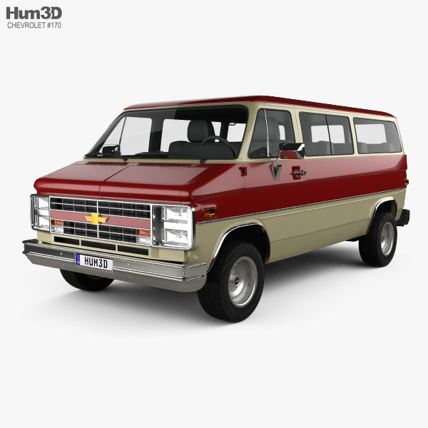 Chevrolet Beauville 1988 3D model
