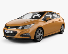 3D model of Chevrolet Cruze Hatchback RS 2017