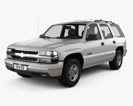 3D model of Chevrolet Tahoe LS 2002