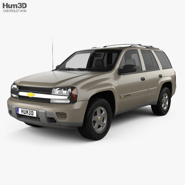 3D model of Chevrolet TrailBlazer LT 2002