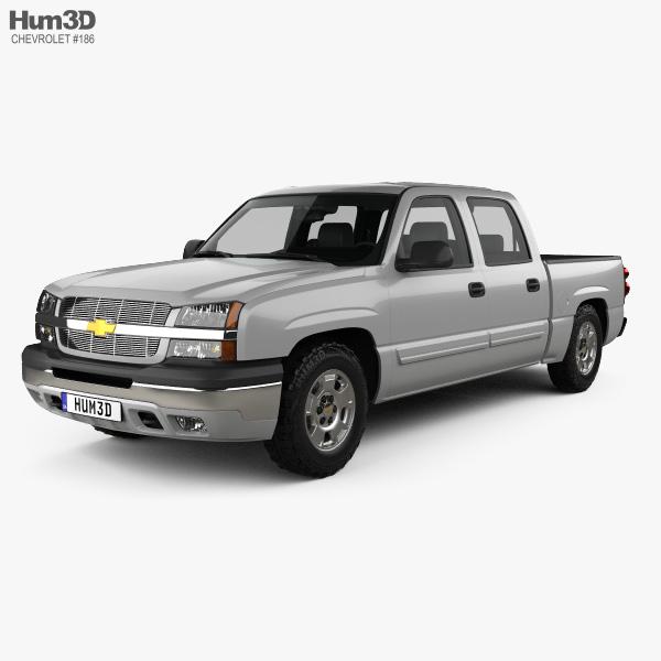 Chevrolet Silverado 1500 Crew Cab Short Bed with HQ interior 2002 3D model