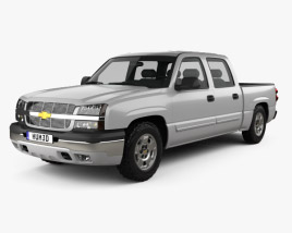 3D model of Chevrolet Silverado 1500 Crew Cab Short Bed 2002