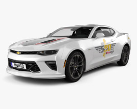 3D model of Chevrolet Camaro SS Indy 500 Pace Car 2016