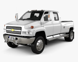 3D model of Chevrolet Kodiak C4500 Crew Cab Pickup 2006