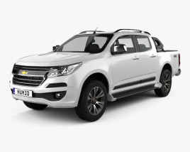 3D model of Chevrolet Colorado S-10 Double Cab LTZ 2016