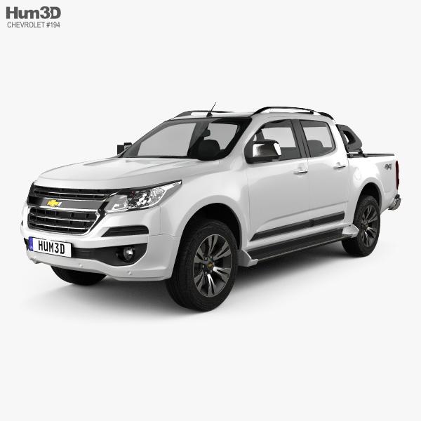 Chevrolet Colorado S-10 Double Cab LTZ 2016 3D model