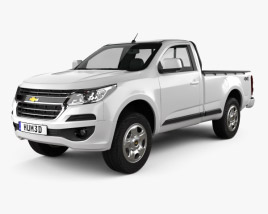 3D model of Chevrolet Colorado S-10 Regular Cab 2016