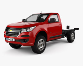 3D model of Chevrolet Colorado S-10 Regular Cab Chassis 2016