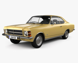 3D model of Chevrolet Opala Coupe 1978