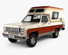 3D model of Chevrolet Blazer Chalet 1976