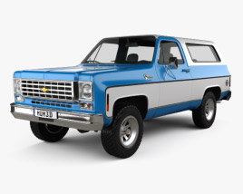 3D model of Chevrolet K5 Blazer 1976
