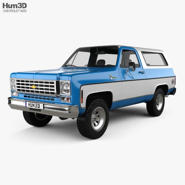 3D model of Chevrolet K5 Blazer 1976