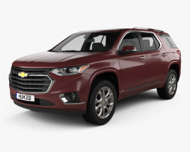 3D model of Chevrolet Traverse 2017