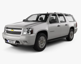 3D model of Chevrolet Suburban LT 2007