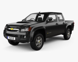 3D model of Chevrolet Colorado Crew Cab TH-spec 2008