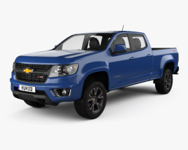 3D model of Chevrolet Colorado Crew Cab Long Box Z71 US-spec 2014