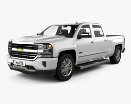 3D model of Chevrolet Silverado 1500 Crew Cab Standard Box High Country 2017