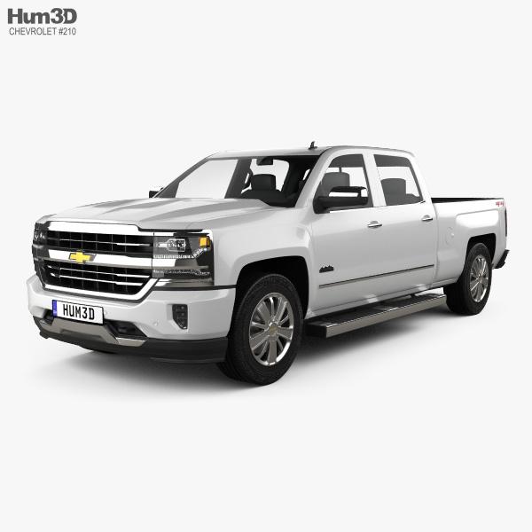 Chevrolet Silverado 1500 Crew Cab Standard Box High Country 2017 3D model
