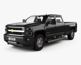 3D model of Chevrolet Silverado 3500HD Crew Cab Long Box High Country 2017
