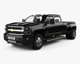 3D model of Chevrolet Silverado 3500HD Crew Cab Long Box High Country Dually Diesel 2017