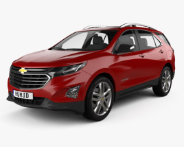 3D model of Chevrolet Equinox Premier 2018