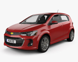 3D model of Chevrolet Sonic hatchback RS 2017