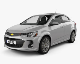 3D model of Chevrolet Sonic sedan RS 2017