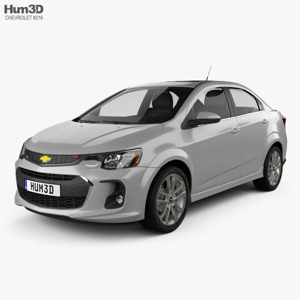 Chevrolet Sonic sedan RS 2017 3D model