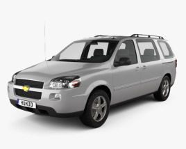 3D model of Chevrolet Uplander LS 2005
