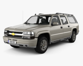 3D model of Chevrolet Suburban LT 2005
