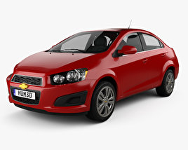 3D model of Chevrolet Sonic LT sedan 2015