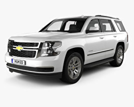 3D model of Chevrolet Tahoe LT 2014